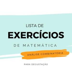 Lista de Exercícios – Matemática M008