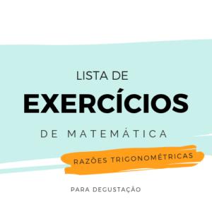 Lista de Exercícios – Matemática M007