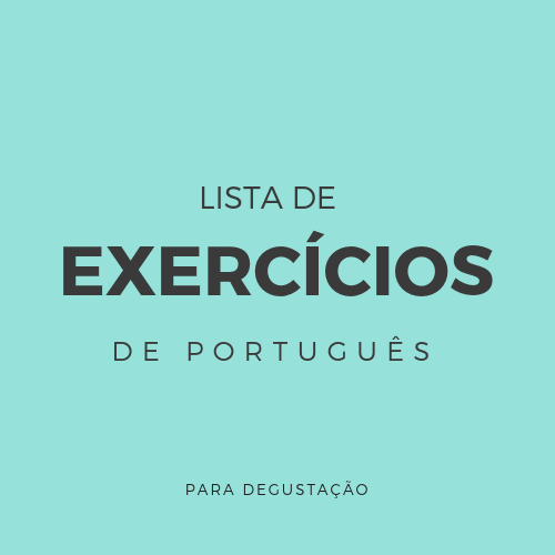Resultado de imagem para exercícios portugues